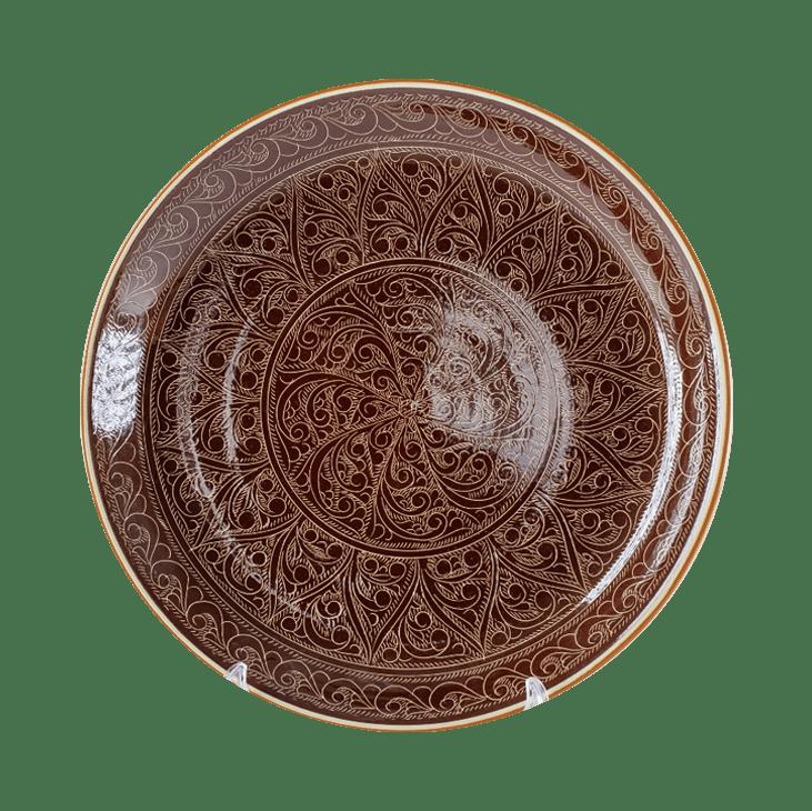 Ляган коричневый 38 см