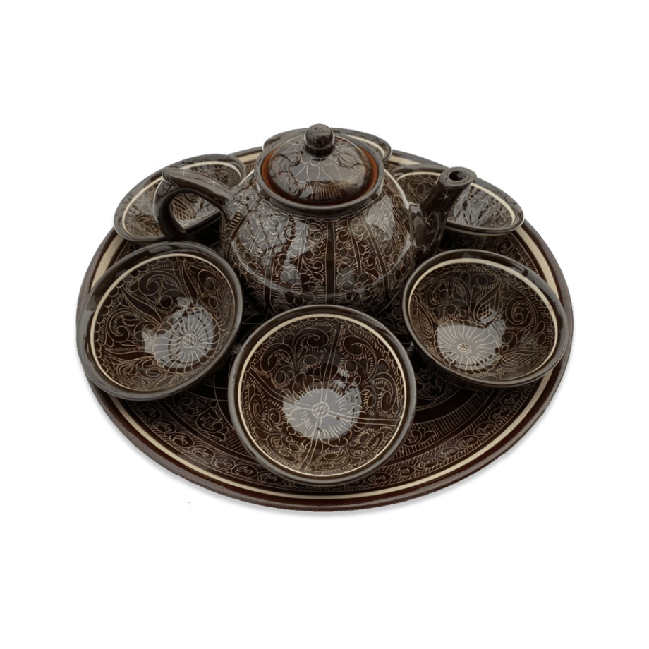 Чайный сервиз «стандарт» коричневый