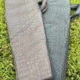 Подарочный набор шампура в чехле (черный крокодил) двойной